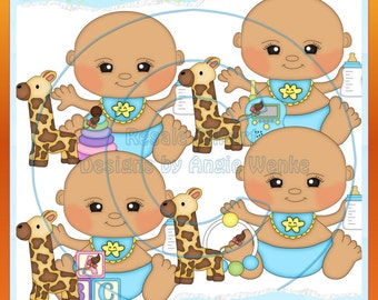 Bundle of Joy Baby Boys Clipart (Digital Download)