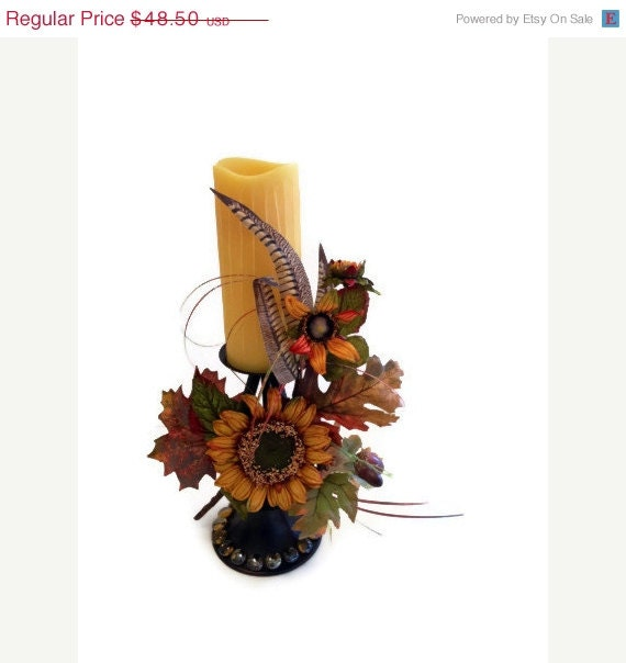 Clearance Event Sale Fall Sunflower Feather By Perpetualposy