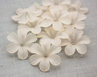 30mm Frosted Lucite Flowers - Champagne/Ivory Color LAST ONES