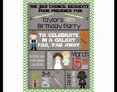 Star Wars Birthday Party digital Invitations 5x7 or 4x6