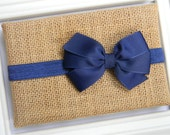 Navy Bow Headband - Newborn Bow Headband - Baby Bow Headband