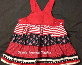 Girls patriotic top
