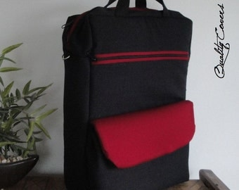 Customizable Laptop Bag for Color Fabric and Size-Laptop COMPARTMENT-7 interior pockets-Briefcase Laptop bag Fully Padded-Waterproof lining