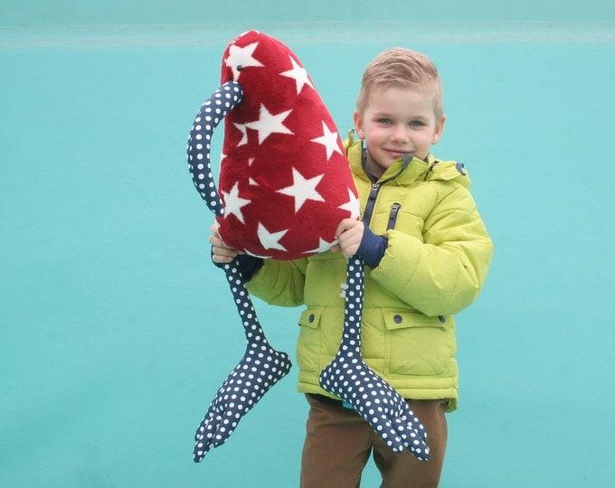 Mighty Kiwi Bird Plush Toy, Stars and Polka Dots Giant Cuddly Bird