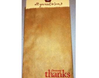 "Small Brown Kraft Merchandise Bag  3.25"" x 5.25""    50 pack"