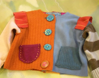 Katya felted sweater size 8