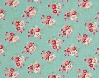 68070  Tanya Whelan Rosey collection Cherry blossom in teal PWTW064 -  1  yard