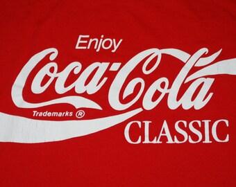 Enjoy Coca Cola Classic Shirt 1980s vintage
