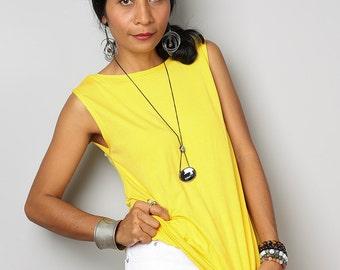Yellow Top / Sleeveless Yellow T Shirt / Yellow Tank Top : Urban Chic Collection No.4