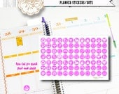 Pink Monthly DOT Stickers for your Daily Planner Embellishments | Fit the ECLP Planners | Fits Erin Condren | Kiss Cut for easy peel
