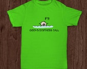 Funny Color Shirt with a Stickman In The Sea for Geek or Engineer Shirt Mug Set