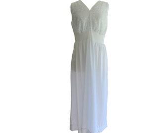 Nightgown Romantic Lace Pastel Blue Long Size Large