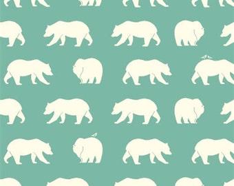 Bear Camp KNITS - Bear Hike Pool - Organic Cotton KNIT by Jay-Cyn Designs from Birch Fabrics