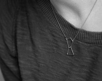 Orion necklace oxidized sterling silver