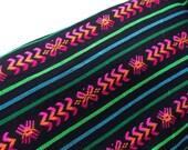 Black Aztec Fabric - One Yard Tribal pattern - Mexican cambaya by the yard - DIY Decor