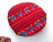 Tortilla Warmer - Tortillero - Tortilla Keeper -  Bread Keeper - Mexican Fabric Cozy - Red Aztec Housewares and Decor