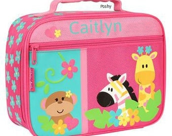 Personalized Lunch Box Bag Stephen Joseph Zoo Girl