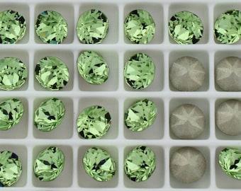 Swarovski 1088 Peridot Foiled 29ss Crystal Chatons - 6 Pieces