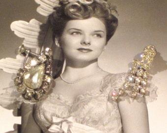 Vintage Rhinestone Earrings for Repurposing