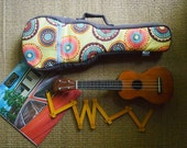 Concert Ukulele Case - Japanese Cotton Ukulele Case with hidden pocket (Made to order)