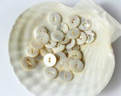 Antique buttons, Mother of pearl buttons,  shell buttons, bulk buttons, instant collection 32 buttons