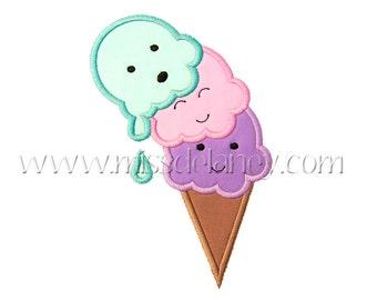 Ice Cream Applique Design