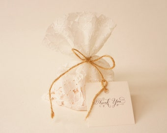 Baptism Favor Bags, Bridal Shower, Party Favors, Wedding Favors, Vintage Wedding, Custom Made Favors
