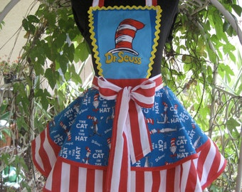 "Dr Seuss ""Cat in the Hat"" Ladies Apron"