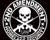2nd Amendment Vinyl Decal - Firearm Decal - Truck Decal