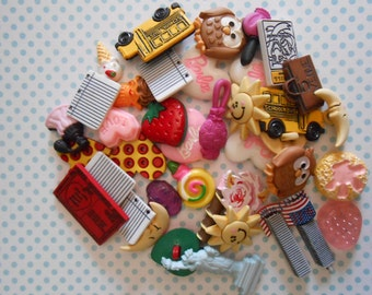 SALE 40 Assorted Buttons and Embellishments