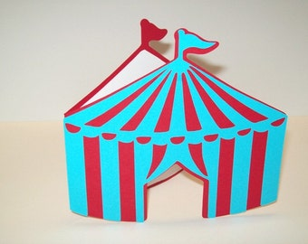 Circus Tent Invitations/Happy Birthday/ Thank You/ Party Supplies