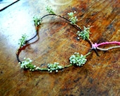 Distressed Wire Heart  with Baby's breath -Rustic home - Rustic wedding