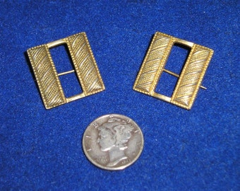 Vintage World War One Captains Bars US Military Army Pin 1918 Jewelry 1040
