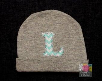 Baby Beanie Hat, Personalized Baby Hat, Newborn Hat, Baby Cap, Jersey Baby Hat, Personalized Hat, Baby Shower Gift, Newborn Pictures