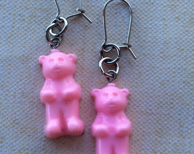 Jewelry Earrings Girls Vintage Gummy Bear Pink