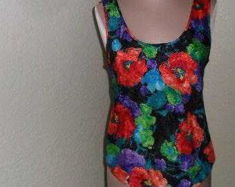 Vintage Camisole Black Floral Indulgence Size 34