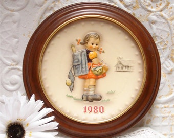 1980 Hum273 Goebel Hummel Collectors Plate School House Girl