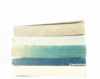 Photo - Un après-midi à Iqaluit, Vintage Books Print, Rothko inspired, urban chic, industrial decor, blue, grey, gray, teal, mint, 8x8, 8x10