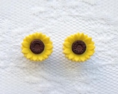 Sunflower Flower Floral Style Pair Plugs Gauges Size: 2g (6mm), 0g (8mm), 00g (10mm)