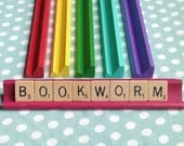 BOOKWORM Scrabble Nameplate Sign