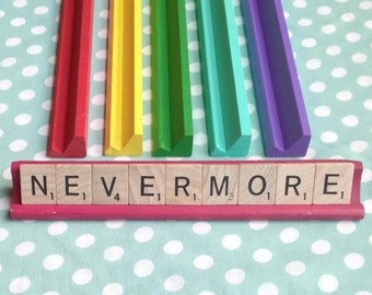 NEVERMORE Scrabble Nameplate Sign