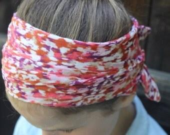 Floral cotton chiffon Headscarf