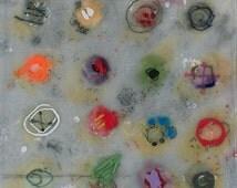 1 pack - FIVE Notecards - Reproductions of Encaustic Paintings by Pamela Caughey