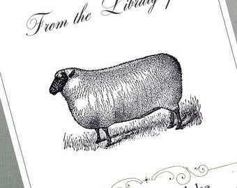 Vintage Sheep Bookplate,Victorian Sheep - Set of 24