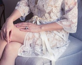 Ready to ship - Lace Robe for Bride, Bridal Gift, Bachelorette party Gift, Honeymoon, Lace Kimono, Wedding Gift, I do, White Lace