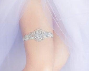 Wedding Garter Belt- rhinestones, pearls, rhinestone garter belt, Bride lingerie, gift for bride, bachelorette party, bridal shower