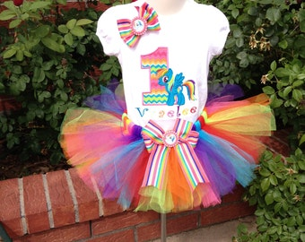 Rainbow Pony TUTU set