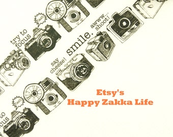 Smile Say Cheese - Japanese Washi Masking Tape - 20mm Wide - 5.5 yards