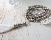 Pearl Tasbih Tasbeeh Prayer Bead 99 bead count muslim gift guide ramadan gift eid gift