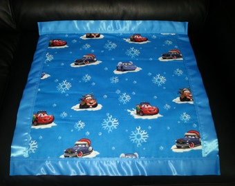 Christmas Winter Disney Pixtar CARS Cotton/Fleece Blanket 22x22 Personalized